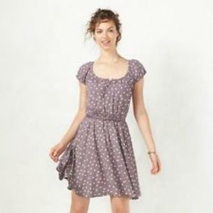 LC Lauren Conrad Cap Sleeve Fit and Flare Dress